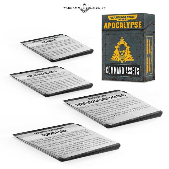 Warhammer Apocalypse Cartas de Activos de Mando