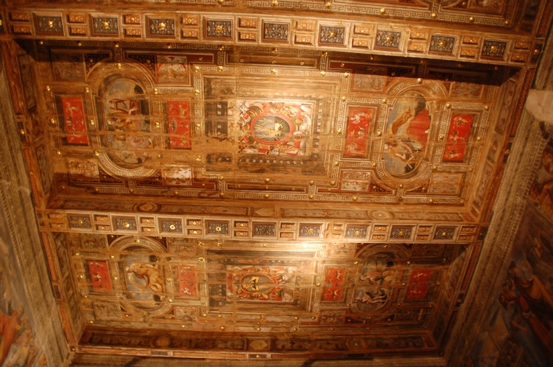 Beautiful roof paintings at Palazzo Poggi of Bologna, Italy - Image by Sunil Deepak