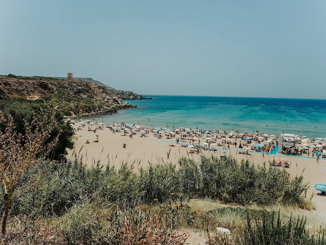 Malta holiday - view of golden bay