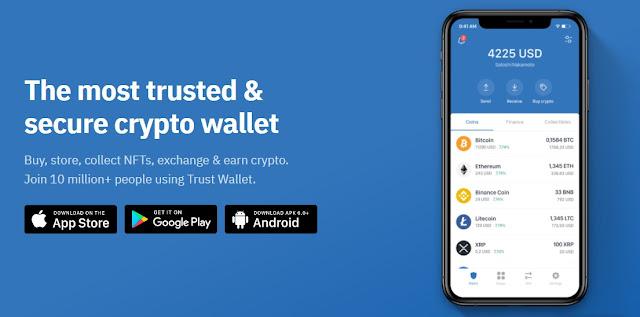 Trust Wallet (get 100 TWT Token for free)