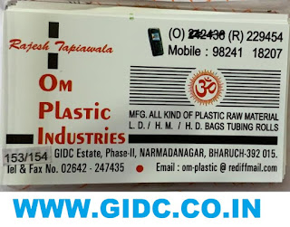 OM PLASTIC INDUSTRIES - 9824118207