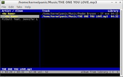 Listening music on command line Lubuntu