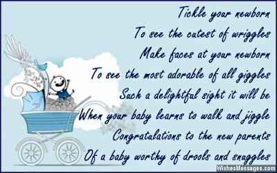 Happy Birthday wishes for baby: tickle your newborn to see cutest of wriggles ,make faces  at your newborn