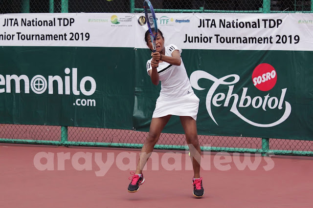 Lima Petenis Tuan Rumah Maju ke Babak Utama JITA International Junior Tennis Tournament 2019