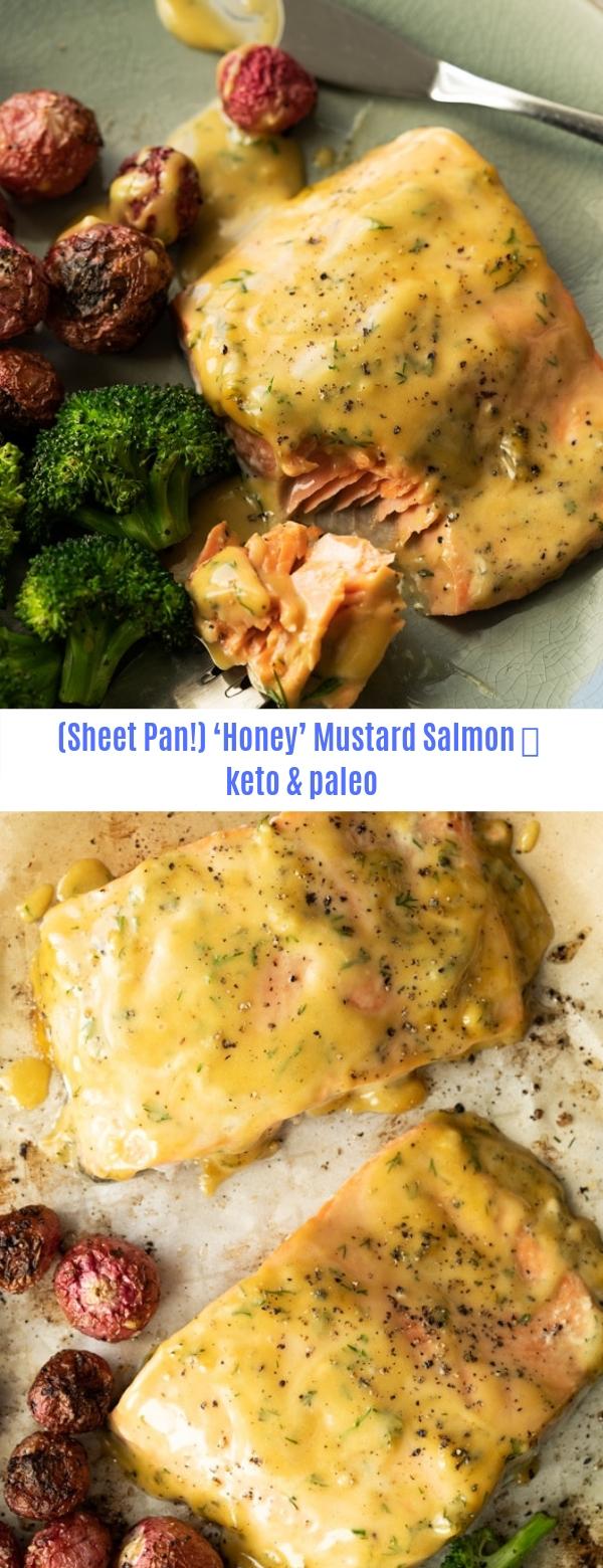 (SHEET PAN!) KETO HONEY MUSTARD SALMON