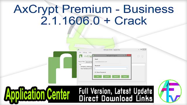 AxCrypt Premium – Business 2.1.1606.0 + Crack