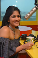 Mega Akash in a sleeveless Off Shoulder Cute Dress Stunnign beauty at Radio Mirchi Promoting Movie LIE ~ Celebrities Galleries 042.JPG
