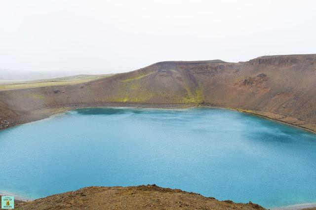 Cráter Viti en Krafla, Islandia