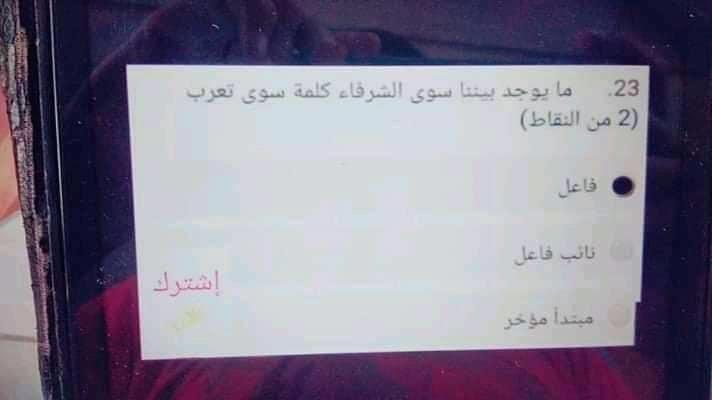 امتحان لغة عربية تجريبي لامتحان 19 مايو للصف الاول الثانوي 0%2B%25284%2529