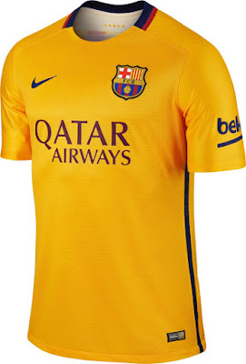 Kostum Tandang Barcelona