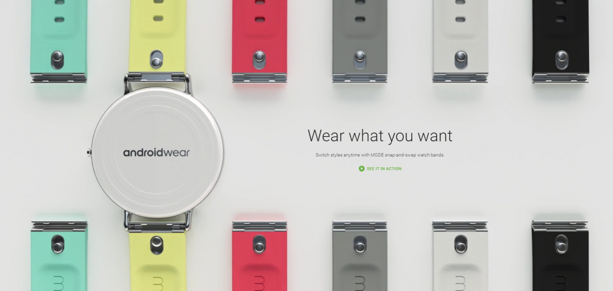 Google Introduces Snap-And-Go MODE Watch Bands for Android Wear