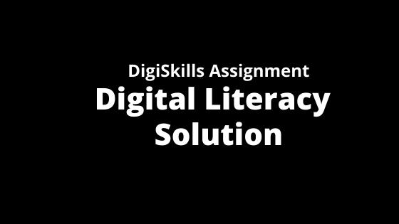Digiskills Digital Literacy Assignment Solution