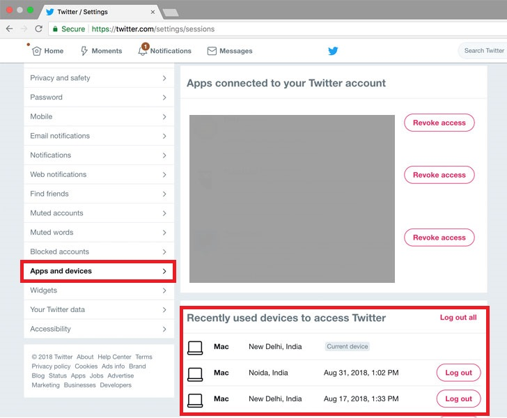 Twitter Login Sessions