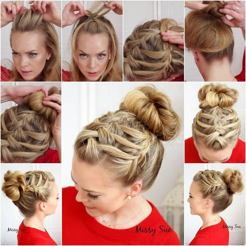 Diy Braided Hairstyles: How To DIY Double Waterfall Triple French Braid Hairstyle