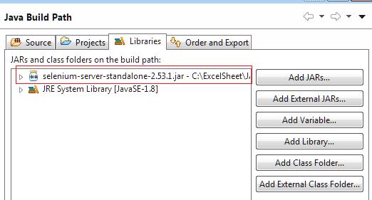 Selenium-server-standalone jar files