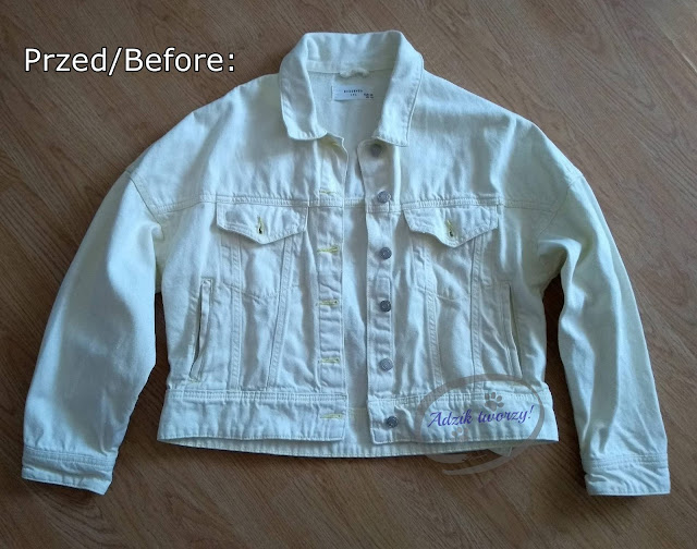 Adzik tworzy - DIY farbowanie kurtki jeansowej na ciemny kolor