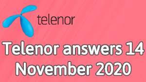 Telenor answers 14 November 2020 || Telenor Quiz 14 Nov 2020