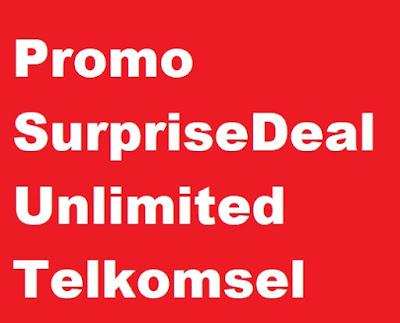 Bagi kamu yang menggunakan produk Telkomsel bisa mengaktifkan promo paket internet telkom Promo SurpriseDeal Unlimited Telkomsel