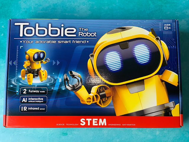 The box of Tobbie The Robot AI STEM toy