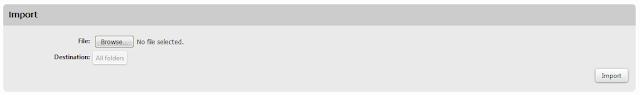 shaw webmail import record