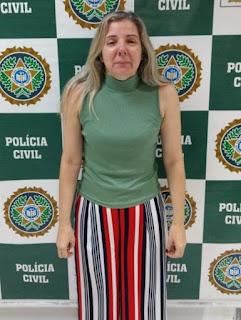 Lucia Helena Machado Matos Ribeiro foi detida por policiais da 52ª DP (Nova Iguaçu)