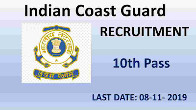 Indian Coast Guard (Navik) Cook & Steward Recruitment 2019