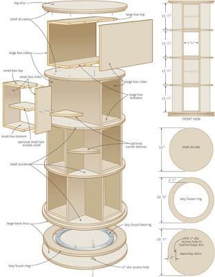 planos mueble giratorio para zapatos