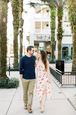 engagement photos walking