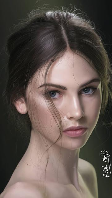 Beautiful girl artwork