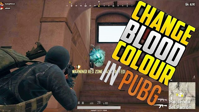 How to change blood color to red in pubg mobile