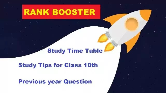 Study Timetable for Class 10 Student