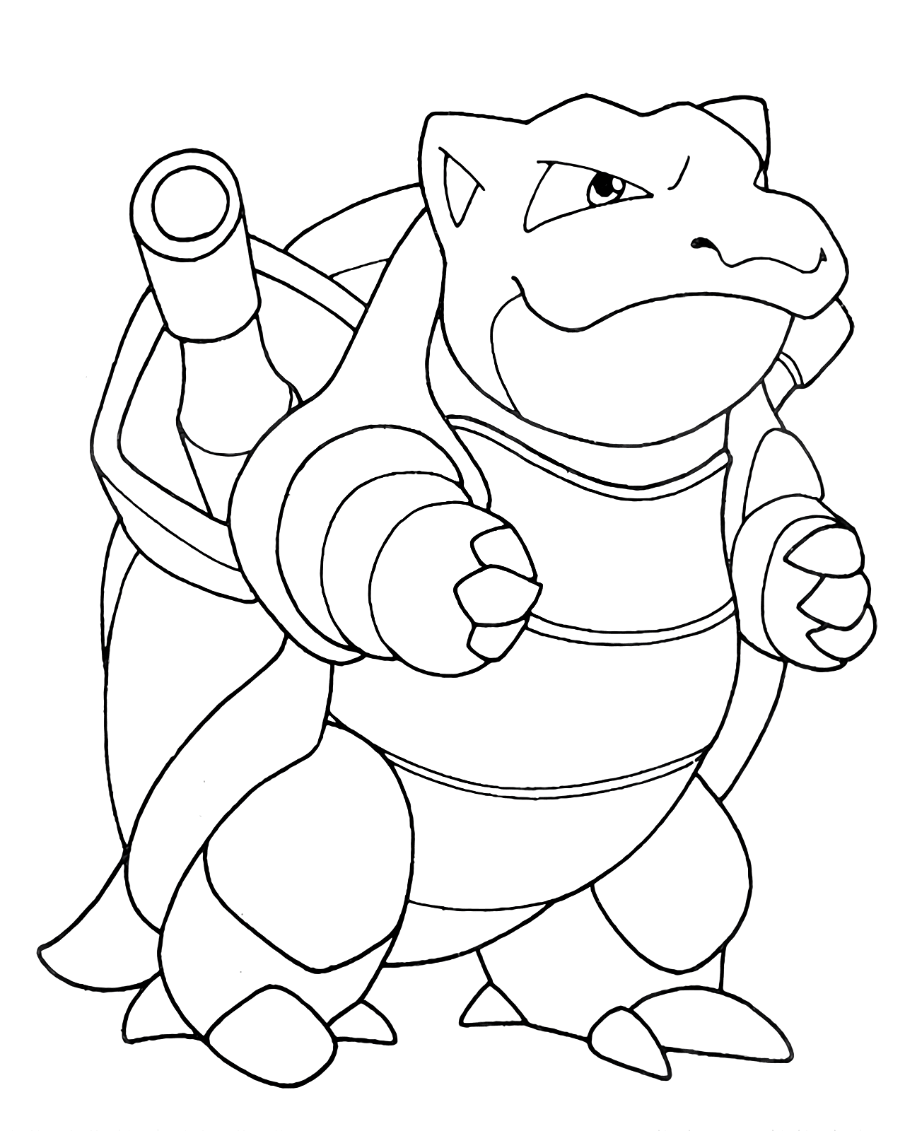 Free Blastoise Coloring Pages Collection - Free Pokemon Coloring Pages
