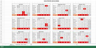 Kalender 2015 - 2016