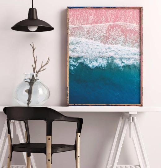 Pink Sand Ocean Photo Printable