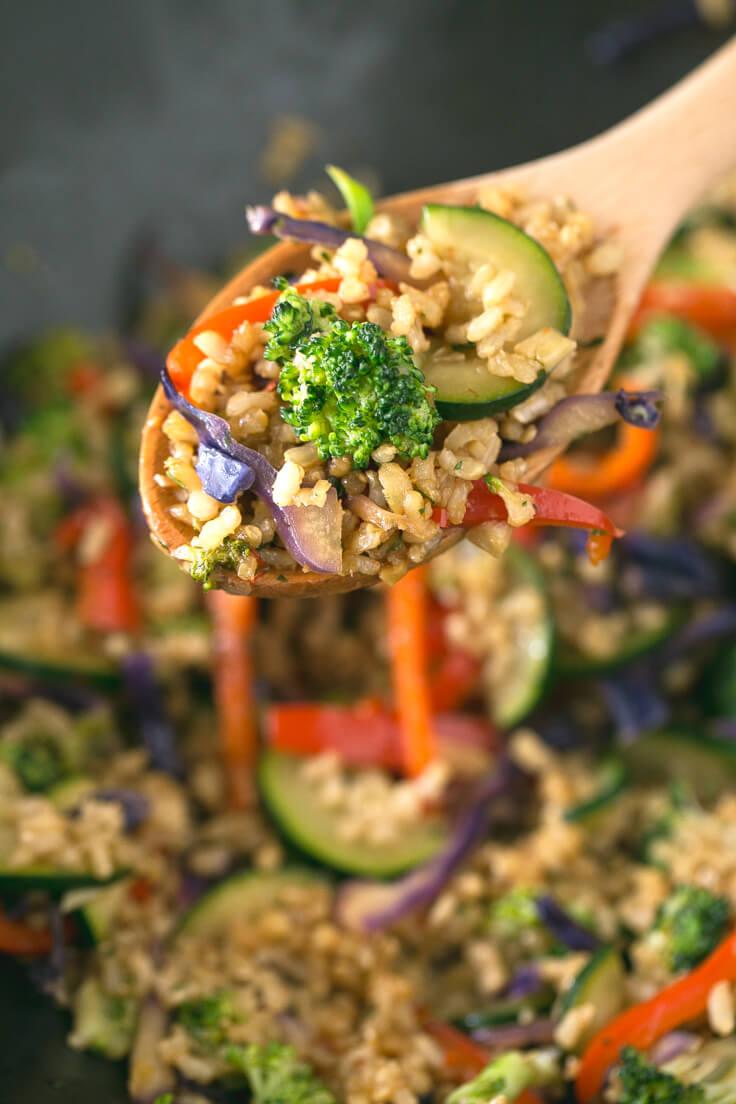 Vegan rice wok | danceofstoves.com #vegan