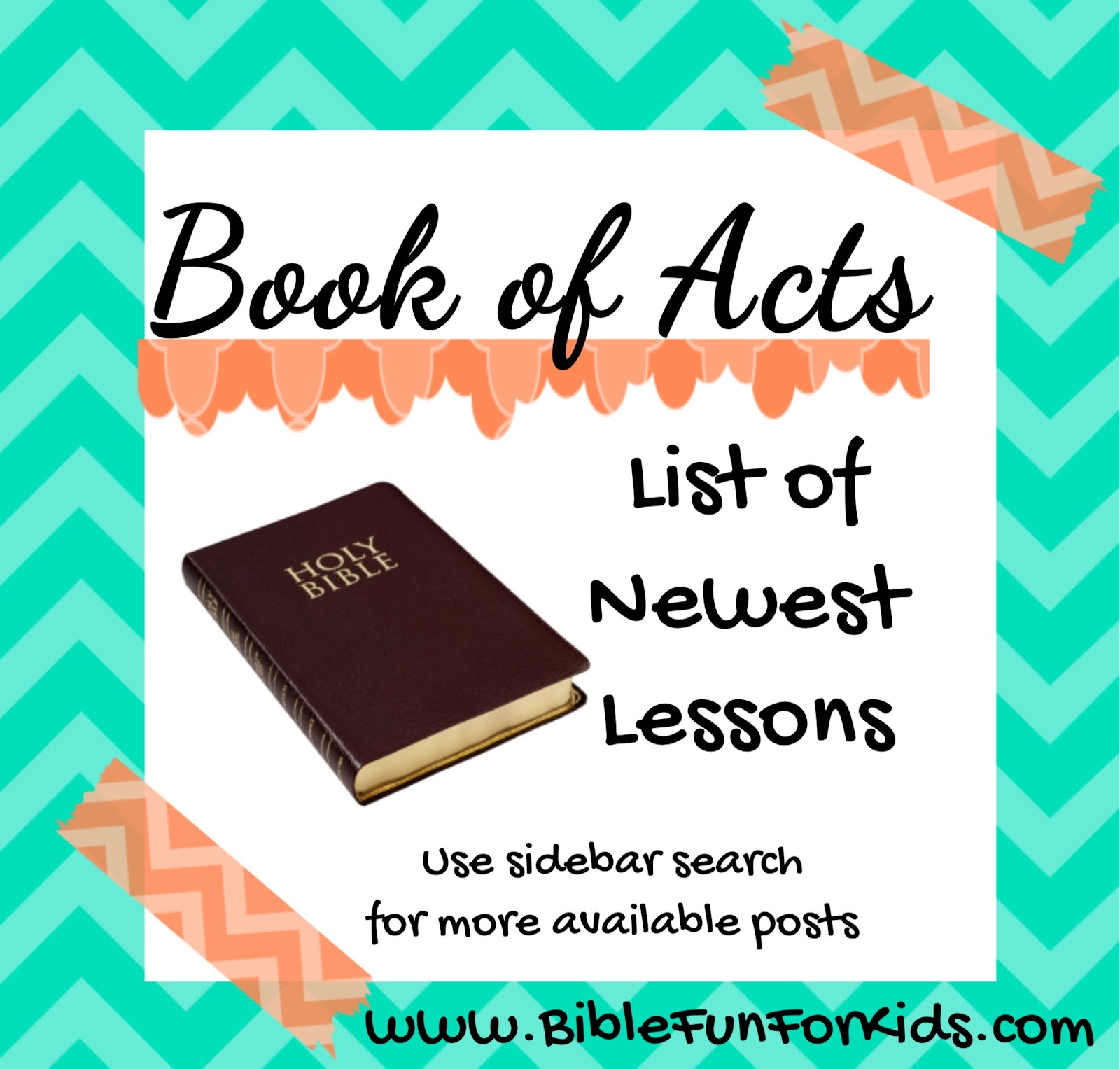 Bible Fun For Kids: Acts Lesson Plan