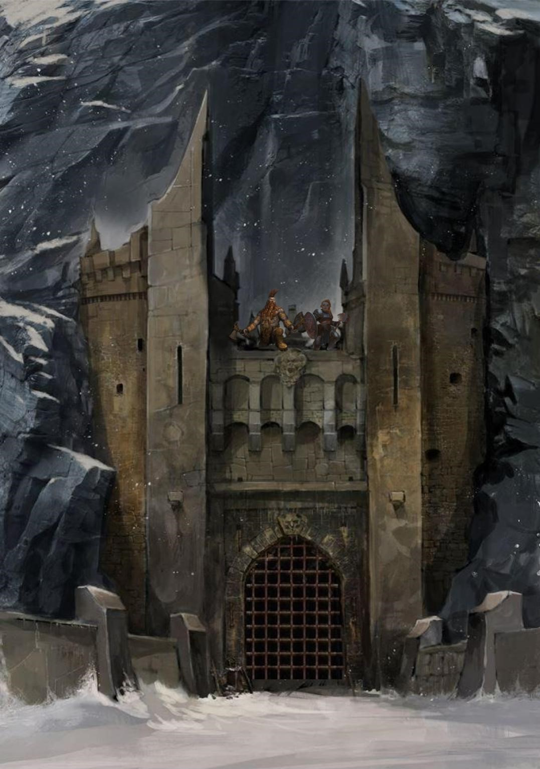 Axeholm fortress is secured by Icehammer dwarves