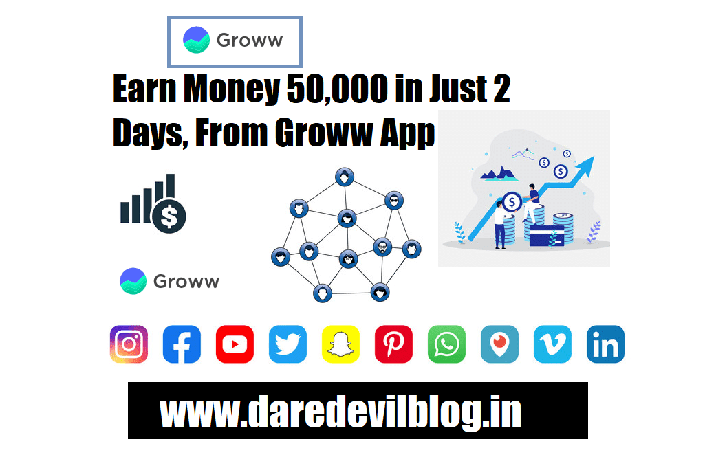 Earn money 50,000 Rupees in just 2 Days From Groww App
