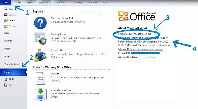 versi Office 2010 32 bit