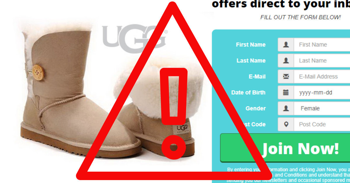 No You Won't Be Getting a FREE Sample from UGG