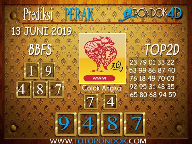 Prediksi Togel PERAK PONDOK4D 13 JUNI 2019