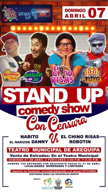 Stand up comedy Arequipa 2019