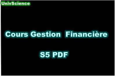 Cours Gestion Financière S5 PDF.