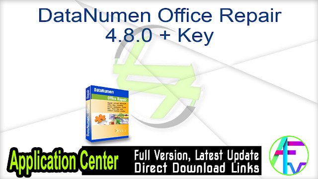 DataNumen Office Repair 4.8.0 + Key
