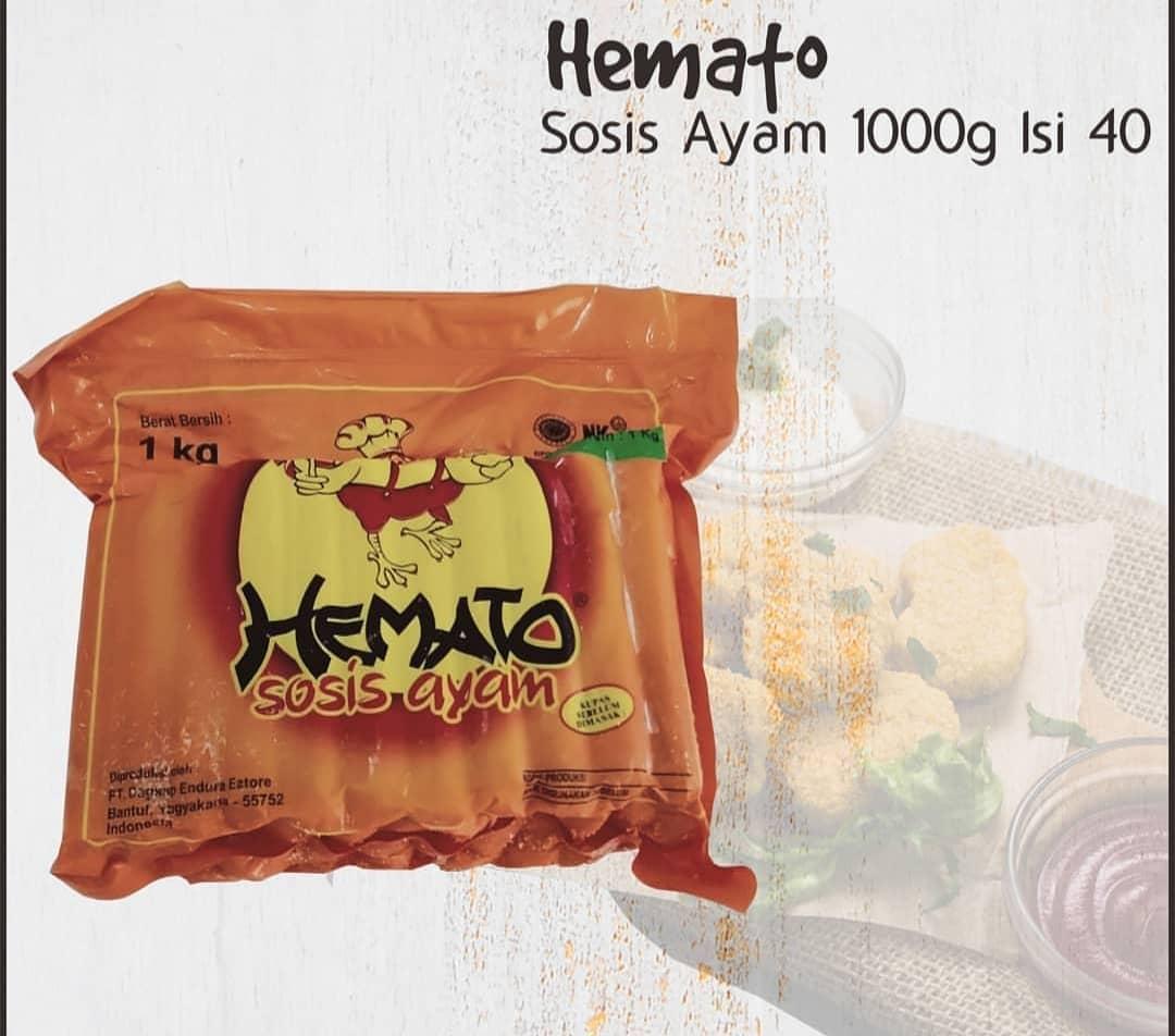 Sosis Ayam Merk Hemato 1000 Gram isi 40