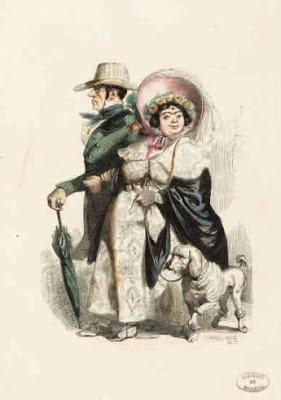 Grandville. Le rentier et sa femme    © Maison de Balzac / Roger-Viollet