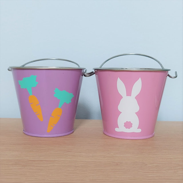 Make these cute and easy Easter buckets with the Cricut Joy!