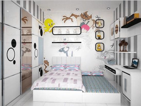 Desain Kamar Tidur Anak Perempuan Minimalis Ukuran 3x3