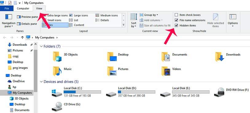 computer me hidden files view kaise kare