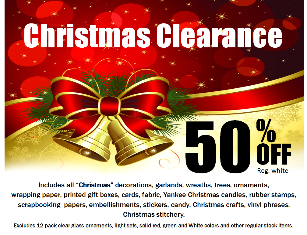 Ben Franklin Crafts and Frame Shop: Christmas Clearance Sale in ...